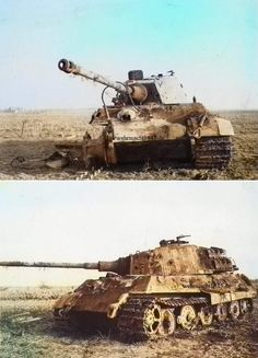 Incapacitated Tiger II in a field after Tiger Ii, Ww2 History, Military History, Ride 2, Military Armor, Tiger Tank, Ww2 Photos, Armored Fighting Vehicle, Battle Tank