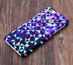 Purple Geometric Design iPhone 6S Case 6/Plus/SE/5S/5C/5/4S Dual Layer Tough Case #534 - Acyc - 1