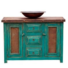 Custom Bathroom Vanities - Turquoise (15514)