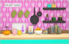 Kitchen clutter - RE-UPLOAD A re-upload of some of my previous kitchen conversions. (see this post as to why) The set includes 14 meshes; • Leehee curio kitchen clip jar + recolors • Leehee curio...