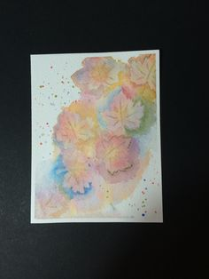 Day 3-Stamped Scenes: Negative Painting...need a LOT more practice!