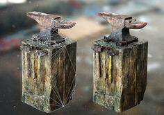 ArtStation - Rusty Anvil on Wooden Block, Yan Ho Kung