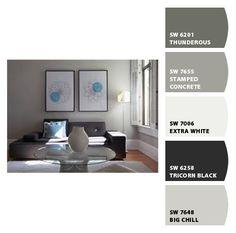 Sherwin Williams Gray Colour Palette  I like the big chill color