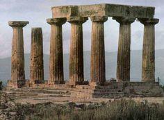 Templo de Apolo en Corinto. Arte griego