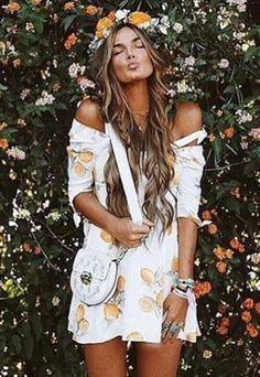 Cochella 2017   For Love and Lemons   Limonada Mini Dress   Floral Mini Dress   Women's Fashion   AETERNASTYLE.COM