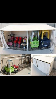 Great storage for toddler outside toys