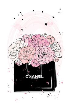 Chanel Peonies Canvas Print by Martina Pavlova Chanel Peonies by Martina Pavlova is printed with premium inks for brilliant color and then hand-stretched over museum quality stretcher bars. Money Back Guarantee AND Free Return Shipping. Coco Chanel Wallpaper, Chanel Wallpapers, Pretty Wallpapers, Chanel Wall Art, Chanel Decor, Canvas Wall Art, Canvas Prints, Art Prints, Fashion Illustration Chanel