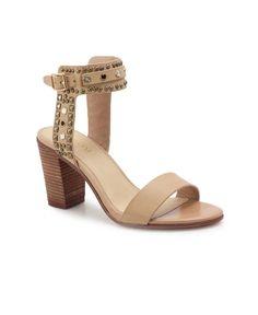 Chunky Heels - Camel Chunky Heels, Open Toe, Camel, Studs, Footwear, Pairs, Ankle, Elegant, Fashion
