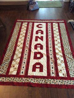 Canada fabric quilt#1