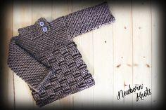CROCHET PATTERN for Boys or Girls Baby Sweater by NewbornKnots, $4.50