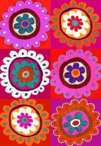 Tea Towel - Flower Kelim