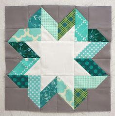 I found this ribbon star square on Pinterest and fell in love.  Fortunately, it's not as hard as it looks!  I mailed the tutorial yesterda...
