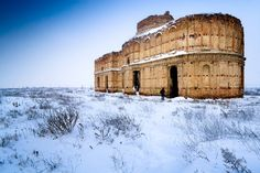 Winter picture of Chiajna Monastery. The monastery is situated on the outskirts of Bucharest by    Mihai Petre