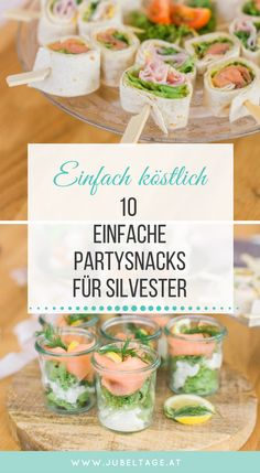 Fingerfood & Snacks: 10 simple and sophisticated recipes for your party - Essen und trinken - Appetizers Easy Party Finger Foods, Snacks Für Party, Appetizers For Party, Raw Food Recipes, Healthy Dinner Recipes, Snack Recipes, Party Recipes, Delicious Recipes, Dessert Recipes