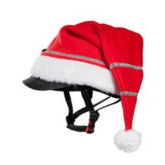 Dress up your riding for the Christmas holidays with this festive helmet cover.