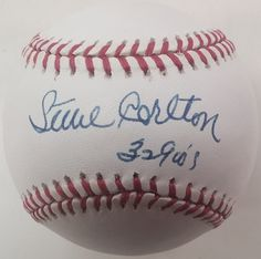 Philadelphia Phillies Steve Carlton Autographed Official American League Baseball with '329 Ws' Inscription