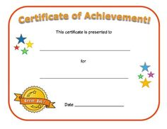 Editable Award Certificate Template  Classroom Ideas