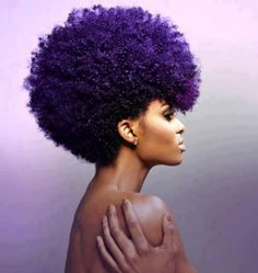 Now if I had an afro....I would def dye it purple!