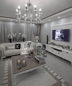formal living room design ideas (pictures) you won& miss & page 24 Find the perfect food and drink ideas, home design, nail and fashion formal living room design ideas you won't miss – page for Glam Living Room, Living Room Decor Cozy, Elegant Living Room, Formal Living Rooms, Interior Design Living Room, Living Room Designs, Bedroom Decor, Bedroom Ideas, Master Bedroom