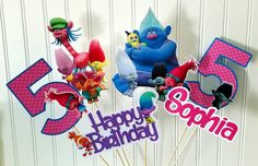 Check out this item in my Etsy shop https://www.etsy.com/listing/501878811/trolls-party-centerpiece-picks-trolls