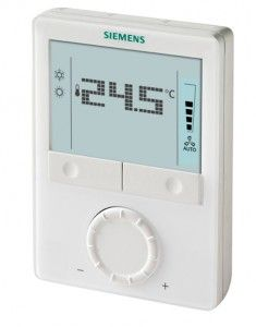 Siemens RDG100 room thermostats with LCD for wall mounting 1