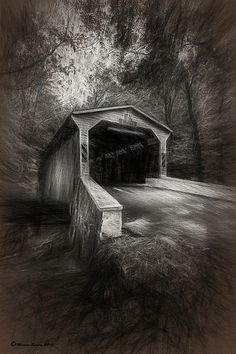 The Covered Bridge by Photographer/Artist Marvin Spates