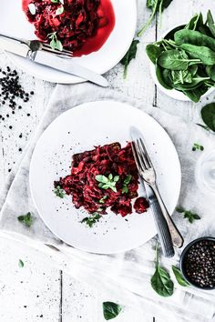 Black Pepper Ketchup Beanz with Beetroot