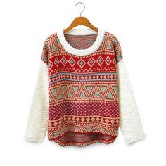 Vintage Style Tribe Pattern Sweater