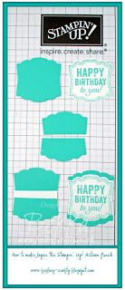How to Layer the Artisan Punch from Stampin' Up! by UK Based Demonstrator Bekka Prideaux - check her blog for lots of other great tips