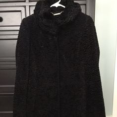 Knee length Dressy Coat Black knee length White House Black Market dressy coat. Very soft material. Warm. Love the coat, just don't wear it enough to justify keeping it for the price. In excellent condition. Bought it last year and only wore it a handful of times. White House Black Market Jackets & Coats Pea Coats