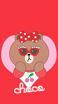 Words Wallpaper, Emoji Wallpaper, Kawaii Wallpaper, Friends Wallpaper, Wall Paper Phone, Line Friends, Line Illustration, Pink Iphone, Cute Cartoon Wallpapers
