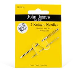 Knitters Needles - to stoppenåler holder lenge! John James, Tricot