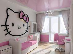 Certaines se damneraient pour une déco pareille ! Hello Kitty est aussi chez www.ludilabel.fr en tatouages et étiquettes personnalisables.