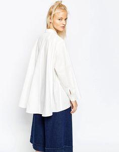 Image 2 ofASOS WHITE Extreme Full Shirt