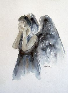"Doctor Who ""Weeping Angel""  Fine Art Print of my original illustration in various sizes on Etsy, $8.00"