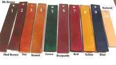 Leather belt with your choice of colors and by larrysleatherwork,