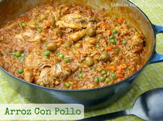 This one pot meal, Arroz Con Pollo {aka chicken & rice}, is absolutely delicious! The chicken is fall apart tender, the sauce just incredible flavors!