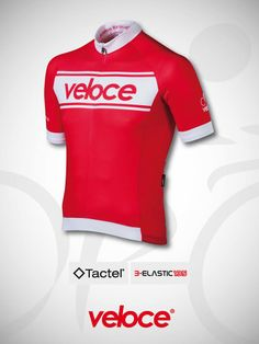 Short sleeve jersey in Tactel fabric, with insert in super-breathable mesh + sleeves in B-elastic 135 for increased ease of movement. Concealed zip, self-grippin elastic finishes, 3 rear pockets and silicon elastic at the bottom. 100% made in Italy : design, materials, manufacturing. http://www.velocecorporate.com