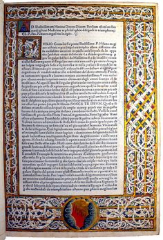 Illuminated decoration in Petrarca, Francesco: Trionfi | by University of Glasgow Library