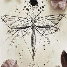 libélula tatuajes diseños para mujeres