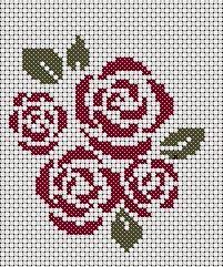 free cross stitch roses