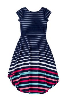 Striped Hi-Lo Dress (Big Girls)
