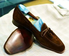 thestyletutors:  Suede Tassel Loafers The Style Tutors