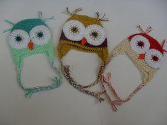 Crochet owl hatCrochet summer owl hatBaby Owl by StephanDesign, $16.00