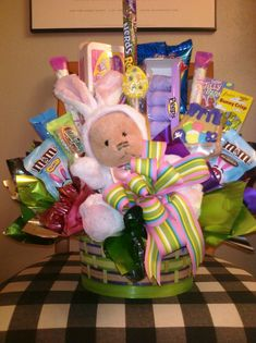 Happy easter candy basket by anitaevelyn on etsy calico goose giving someone a special gift this easter with a personalized easter basket negle