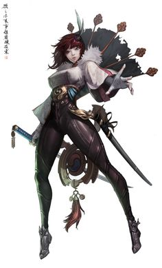 The amazing digital art of KUHN Girls Characters, Fantasy Characters, Female Characters, Character Design References, Game Character, Character Concept, Art Manga, Anime Manga, Fantasy Warrior