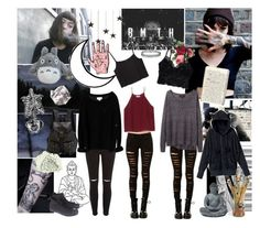 Hannah Snowdon Inspired by laurentheghostgirl on Polyvore featuring polyvore, fashion, style, Issue 1.3, rag & bone, RyuRyu, Wilfred, Monki, River Island, Aerie, Converse, Jas M.B., Topshop, clothing, dropdead, BMTH and HannahSnowdon