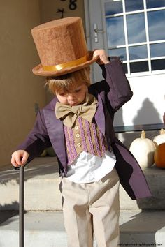 Disfraz niño de Mr. Willy Wonka de Charlie y la fábrica de chocolate. #cool #kids #costume