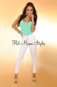 $44.99: White High Waisted Skinny Jeans#Repin By:Pinterest++ for iPad#