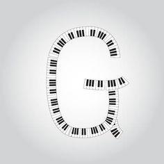 Letter G, Piano, Music Class, Symbols, Alphabet, Musik, Pianos, Glyphs, Icons
